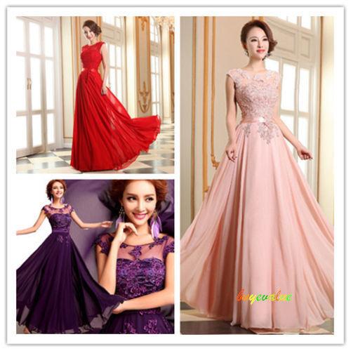 Longue robe de bal robe de soirée de robe de mariage de demoiselle d'honneur