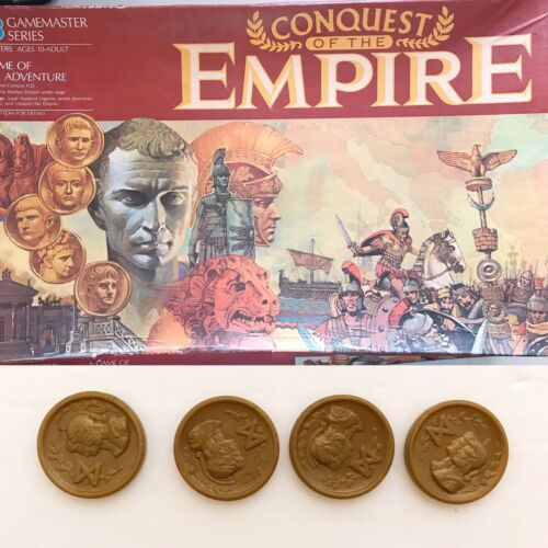 1984 Conquest of the Empire Replacement GOLD ROMAN COINS Tribute Parts Pieces