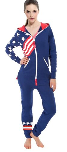 Women Onesi0 Pajama Stripe Onepiece Fashion Playsuits Ladies Non Footed Jumpsuit