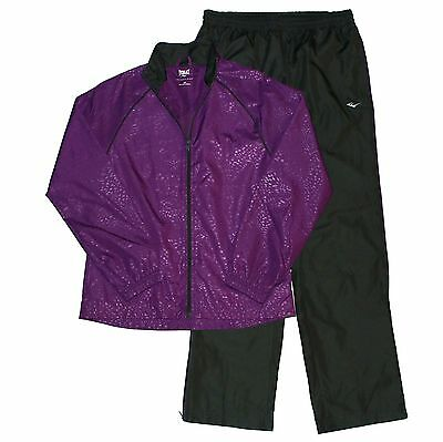 ADIDAS Jacket Youth Girl's Size S CLIMALITE Purple Mesh Three Stripe Hoodie | eBay