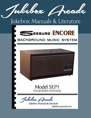 Jukebox Arcade Exclusive! Seeburg 1000 BMC1 Rare Engineers Manual