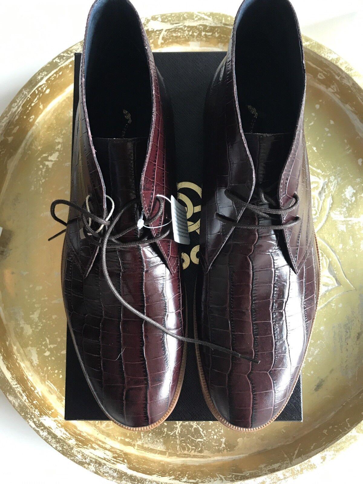 Zapatos de cuero ceremonia de apertura para hombre de vestir en relieve Cocodrilo Sz45