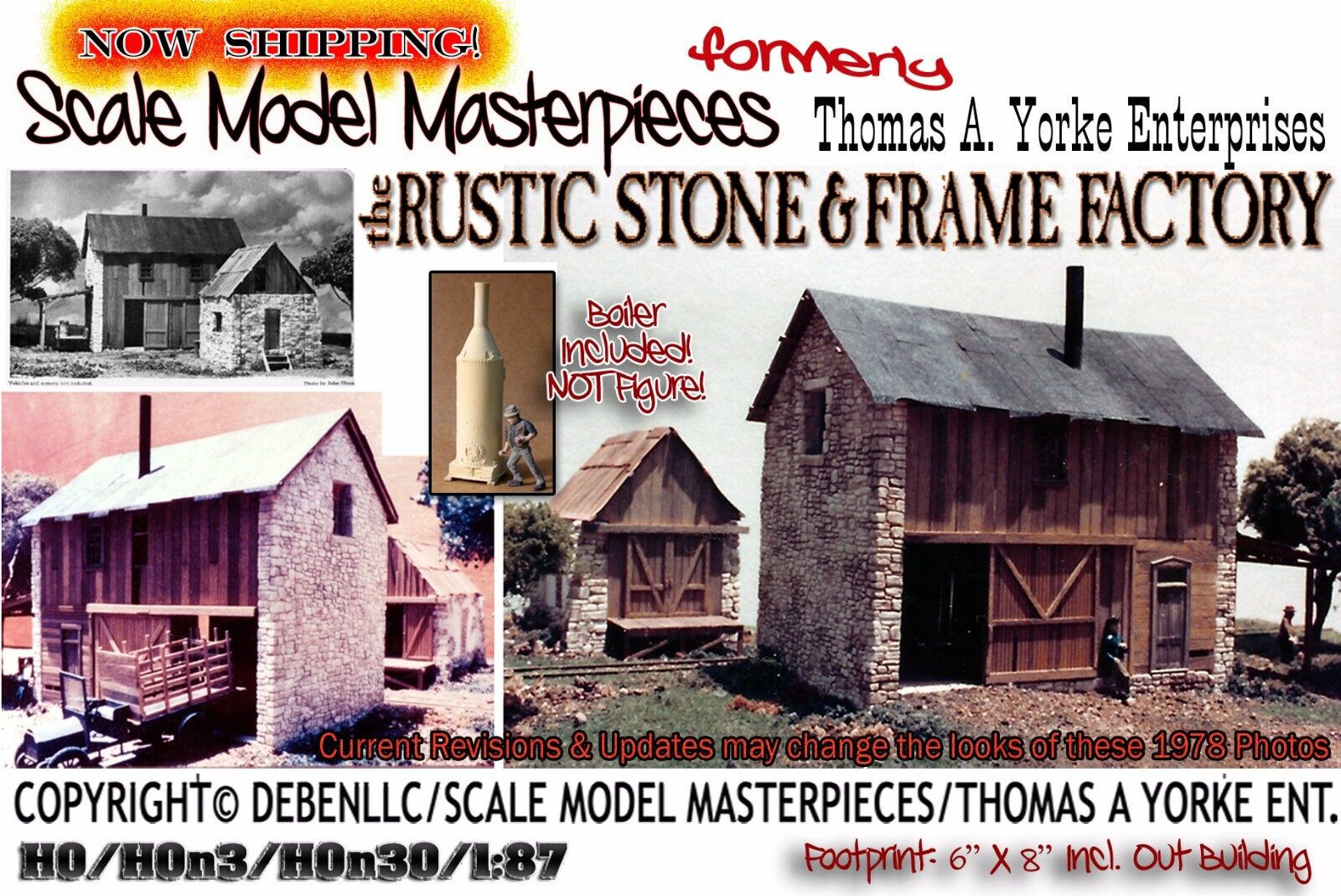 Scale Model Masterpieces Yorke the Rustic Stone & Frame Factory Kit HO
