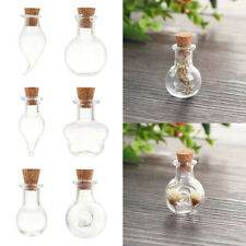 5pcs 30ml Sealed glass vials Transparent small jars frosted glass stopper