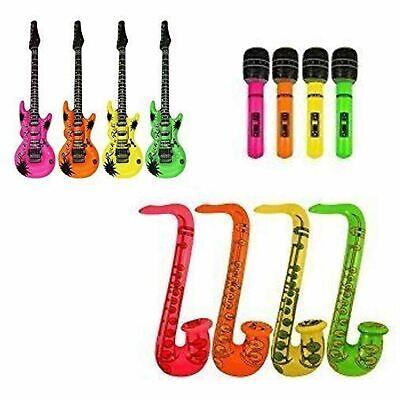 Inflatable Blow up Saxophone 75 cm Neon Colors Disco Party Decoration Accessory