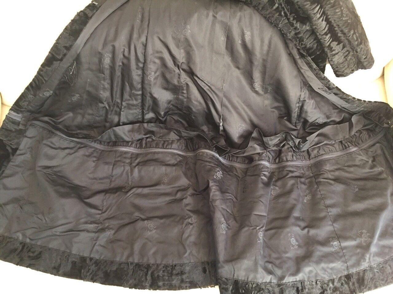 Hartnell designer coat/fur SZ SMALL MEDIUM - image 9