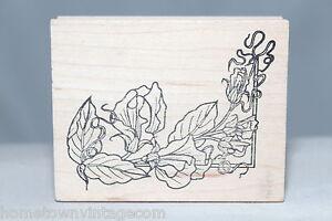 Elegant-Floral-Lily-Corner-The-Cottage-Stamper-Wood-amp-Foam-Backed-Rubber-Stamp