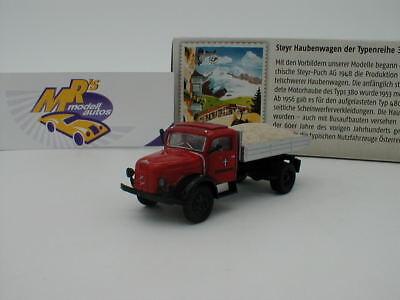 """1:87 #58045 Brekina Steyr 480 /""""Schwarzbau/"""" mit Balken//Röhren von Starline"""