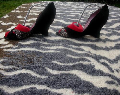 Taille Eu 39 uk Talons Hauts à Chaussures Vintage Jean Michel Noir 6 Cazabat fvnwaxqz8