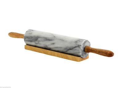 Mattarello Da Cucina Marmo Bianco Base Legno Italian Marble Rolling Pin 45cm Quell Summer Thirst