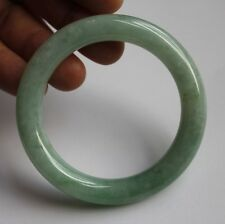 100% Natural Certified (Grade A) Jade Apple Green Jadeite Bangle Bracelet * 56mm
