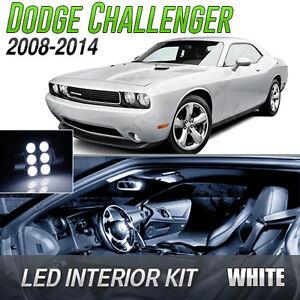 2008 2014 Dodge Challenger White Led Lights Interior Kit