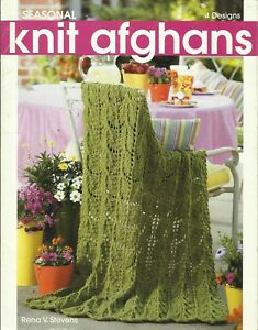 Seasonal-Knit-Afghans-Rena-V-Stevens-Knitting-Instruction-Pattern-Book-LA4446