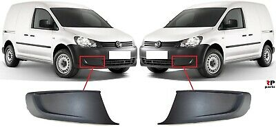 NEW VW CADDY TOURAN 2010-2015  FRONT BUMPER FOG LIGHT GRILLS PAIR SET N//S O//S