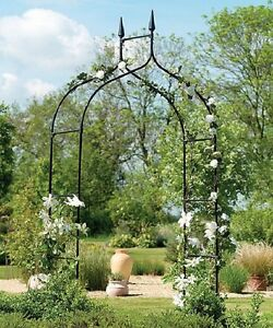 Image Is Loading Tall Garden Archway Trellis Wedding Arbor Flower Metal
