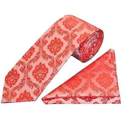 Cosciente Corallo Rosa Paisley Classic Uomo Cravatta E Fazzoletto Set Matrimonio Cravatta Regolari-mostra Il Titolo Originale Ineguale Nelle Prestazioni