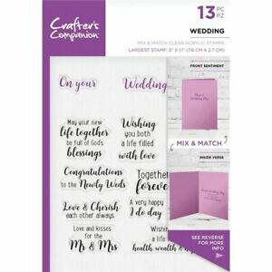 Crafters Companion CCSTWED Mix /& Match Clear Stamps-Wedding