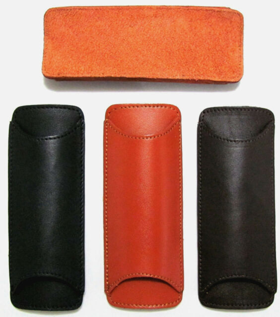 Black-Tan-Brown Replacement Leather Shoulder Comfort Pad For Bag/Briefcase Strap
