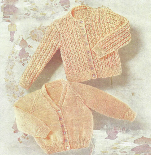 TODDLERS CARDIGANS 2 DESIGNS KNITTING PATTERN  22//24 INCH 466