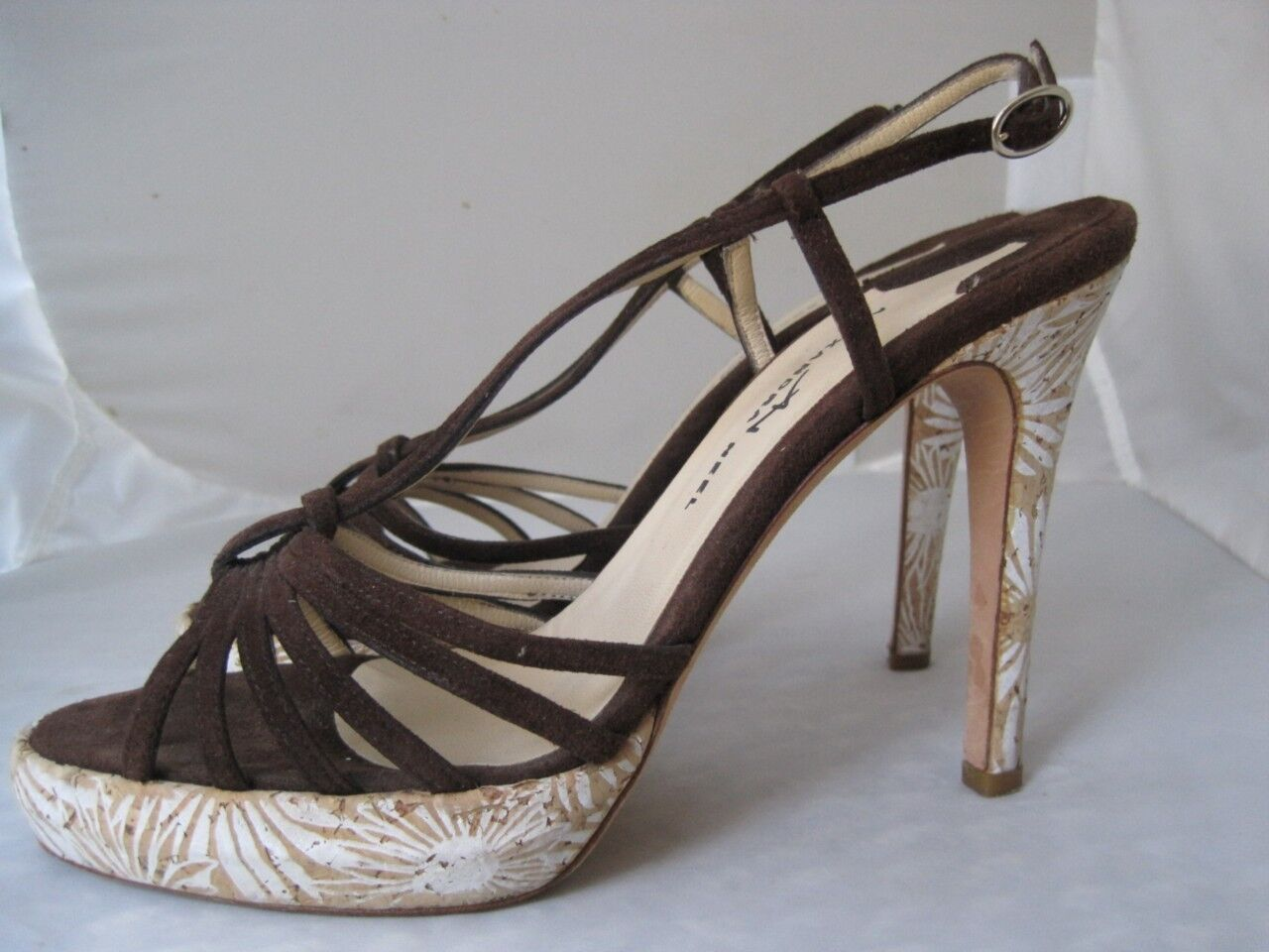 Alexandra Neel Painted Daises Cork Sandals braun 37.5