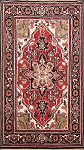 5x8 Geometric Indo Heriz Oriental Area Rug Hand-knotted Wool Traditional Carpet