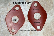 (2) GRUNDFOS circulator flange gaskets/ GRUNDFOS circulator flange gaskets UPS15