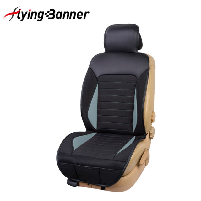 New single delux car seat cushion linen PU leather quality easy installation