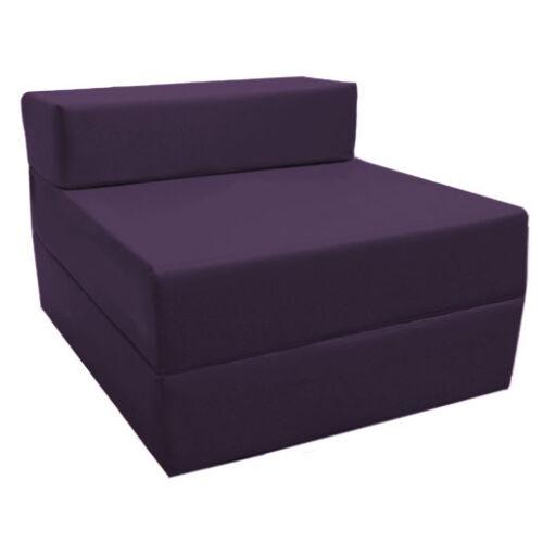 Purple fold out guest canapé z lit de sommeil matelas studio étudiant extérieur intérieur