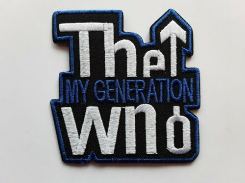 THE WHO CLASSIC 60S MOD ROCK MUSIC EMBROIDERED IRON//SEW QUALITY PATCH UK SELLER