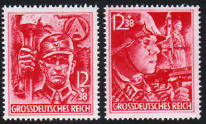 Germany-1945-the-last-stamps-of-the-Third-Reich-Nazi-SA-SS-troops-set-2-MNH