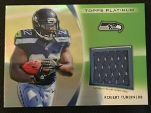 Details about ROBERT TURBIN AUTHENTIC CERTIFIED GAME USED JERSEY CARD SEATTLE SEAHAWKS