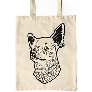 Jutebeutel-natur-Hund-Baumwolltasche-Tote-Bag-Chihuahua