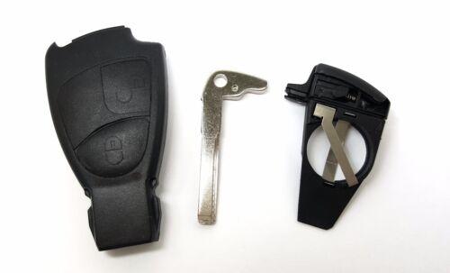2 touches de remplacement clé set compartiment pour Mercedes Benz s202 s203 Classe C