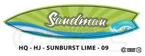 Holden-HQ-HJ-SANDMAN-Surfboard-Shaped-XXL-Sticker-LIME-09