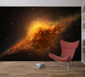 Details About Space Galaxy Stars Planets Wallpaper Mural Photo Children Kids Bedroom Home Deco