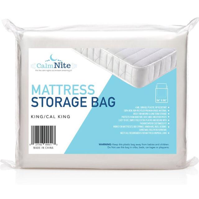 Twin NEW TRU Lite Mattress Storage Bag clear moving heavy duty 4 Mil King