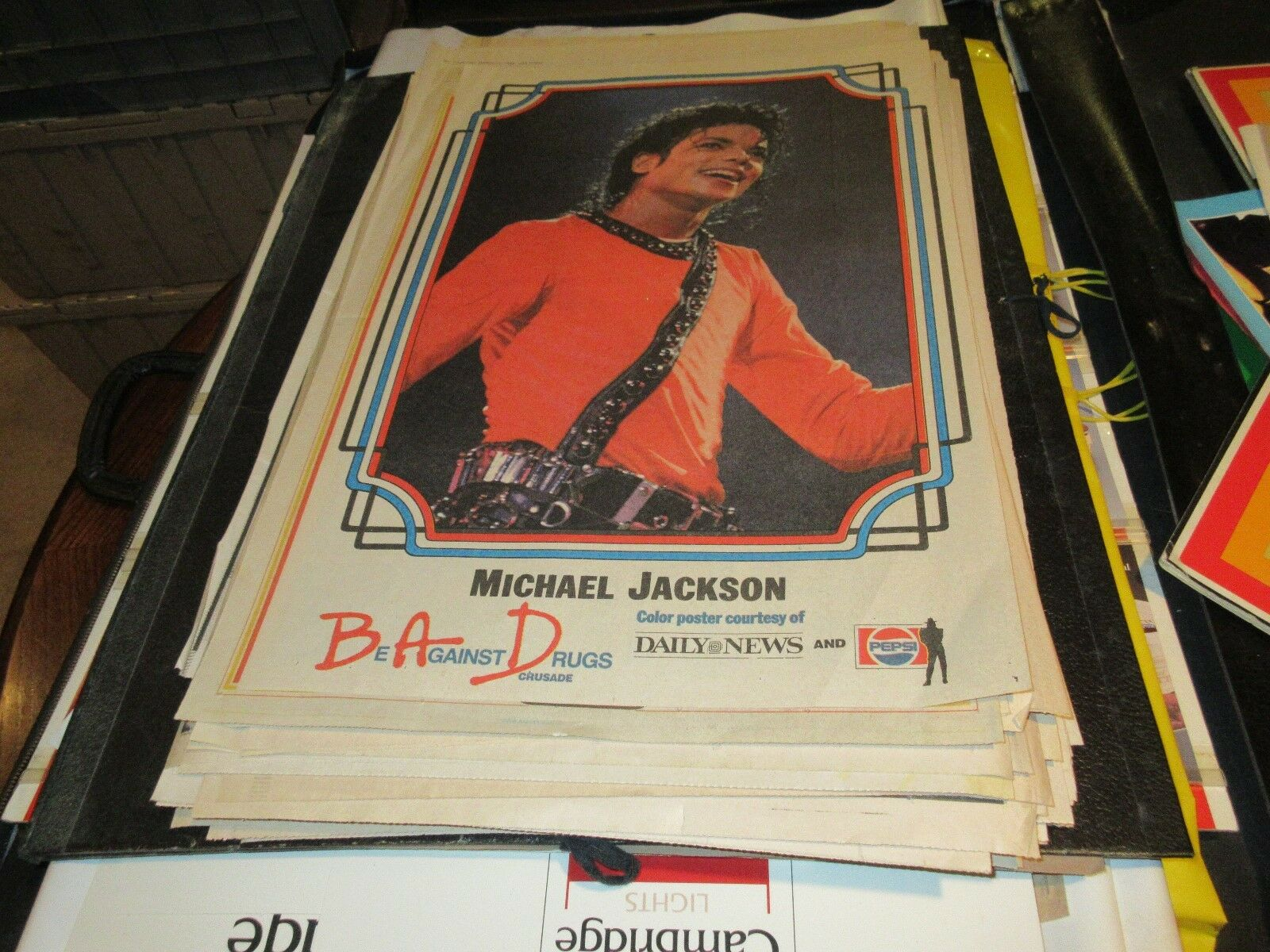 Michael Jackson , NY Daily News , Newspaper Clipping /