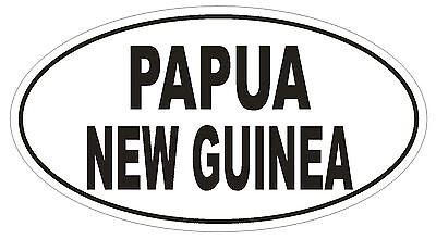 PG Papua New Guinea Country Code Oval Bumper Sticker or Helmet Sticker D1032