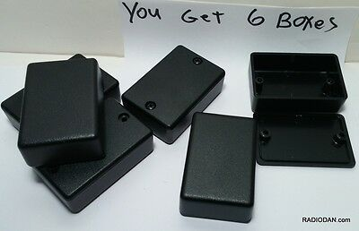 USA small Black Plastic Electronic x12 pcs Box Enclosure case 2.25 x 1.5 x .785