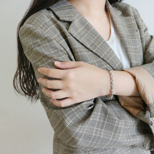 Vintage Geometry Bracelet for Women Gift Solid 925 Sterling Silver Fine Jewelry