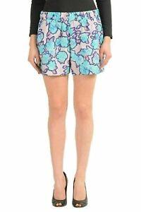 Viktor-amp-Rolf-Silk-Multi-Color-Floral-Women-039-s-Casual-Shorts-US-M-IT-42