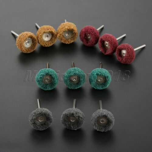25mm Round Polishing Wheel Buffing Pad Kit Cleaning Abrasive Rotary Tool 12pcs