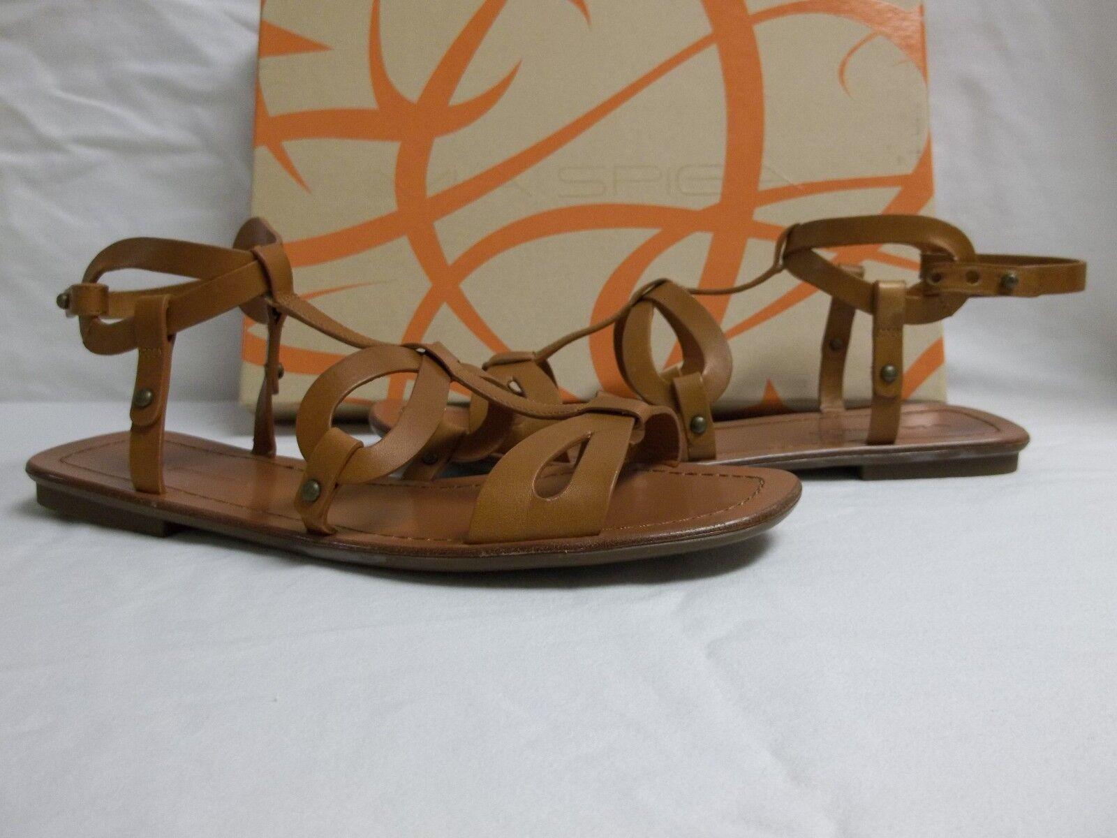Via Spiga Größe 8 M Donnie Tan Leder Gladiator Sandales NEU Damenschuhe Schuhes