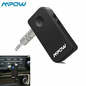 Mpow Wireless Bluetooth Car 3.5mm Aux Audio Music Receiver Adapter Stereo w// Mic