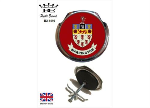 Fittings Royale Classic Car Grill Badge WARRINGTON COAT OF ARMS B2.1416