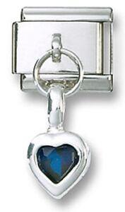 Italian-Charm-Dangle-CZ-Heart-Sterling-Silver-Stainless-Steel-Link-September
