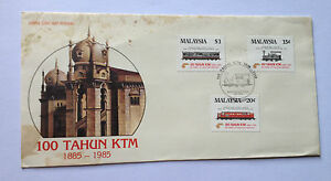 Malaysia-1885-1985-100-Tahun-KTM-First-day-cover