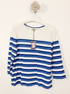 Heyton-New-With-Tags-Blue-White-3-4-Sleeve-Top-Size-XL-Blogger-Casual
