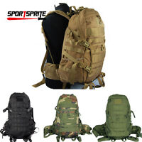 Tactical Men Molle Backpack Large Army 3day Assault Carry Bags Pack W Waist Belt