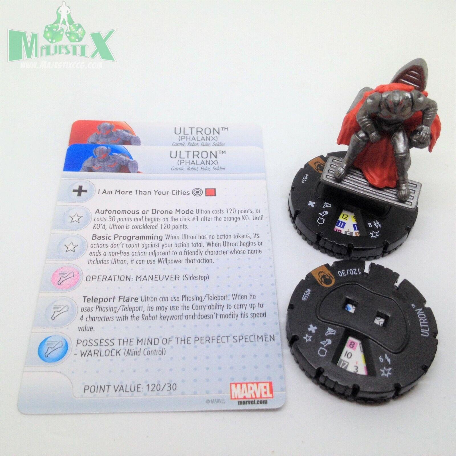 Heroclix edad De Ultron Set Ultron (falange)  055a y 055b Tarjeta con Figura de Chase